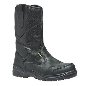 Site Gravel Rigger Safety Boots Black Size 6