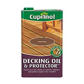 Cuprinol Brush & Spray Decking Oil & Protector Natural Cedar 5Ltr