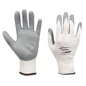 Ansell Hyflex 11-800 Nitrile Foam Gloves White Large