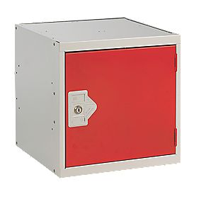 Security Cube Locker 380mm Red