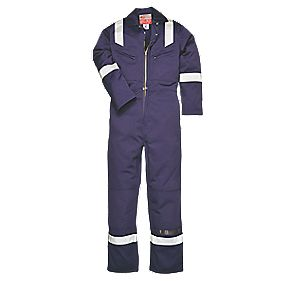 "Anti-Static Coverall Navy Large 42-44"" Chest 32"" L"