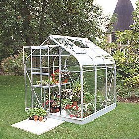 "Halls Supreme 66 Aluminium Greenhouse Toughened Glass 6'4"" x 6'5"""