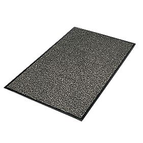Vyna-Plush Entrance Mat Black/Steel 0.9m x 1.5m