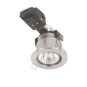 Sylvania Fixed Round Mains Volt FR Downlight Brushed Steel 240V