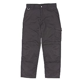 "Scruffs Worker Trousers Black 40"" W 31"" L"