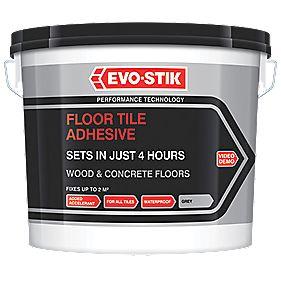 Evo-Stik Fast Set Floor Tile Adhesive Off-White 5Ltr