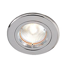 Robus Fixed Round Downlight Polished Chrome 12V Pack of 10