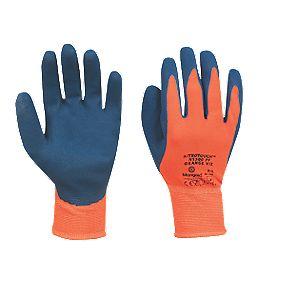 Marigold Industrial N1500 Nitrile Palm Gloves Orange Large