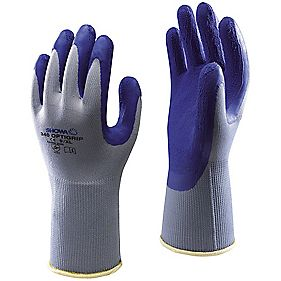 Showa 340 Opti-Grip Gloves Blue Medium