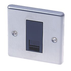 LAP 1-Gang Master Telephone Socket Stainless Steel