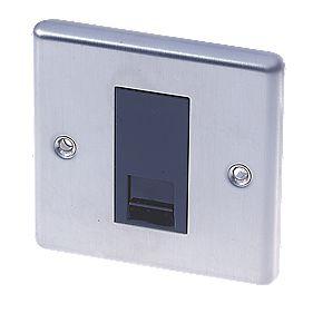 LAP 1-Gang Master Telephone Socket Stainless Steel