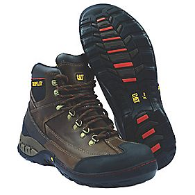 Caterpillar Dynamite Brown Safety Boots Size 6