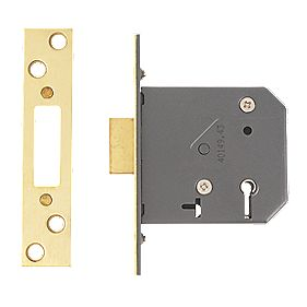 "Yale 5-Lever Mortice Deadlock Polished Brass 3"" / 76mm"