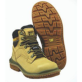 Caterpillar Generator Honey Safety Boots Size 8