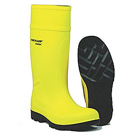 Dunlop Footwear Purofort C462241 Full Safety Standard Wellington Yellow Size 10