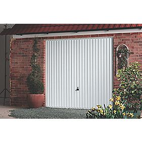 "Carlton 8' x 6' 6"" Framed Steel Garage Door White"