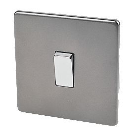Varilight 1-Gang 2-Way 10A Switch Slate Grey