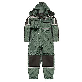 "Dickies Waterproof Padded Coverall Green X Large 48-50"" Chest 32"" L"