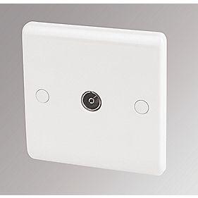 LAP 1-Gang Coaxial Socket White