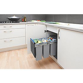 Brabantia Built-In Recycling Separator Black Ltr