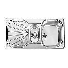 Franke Erica Kitchen Sink Stainless Steel 1½ Bowl & Drainer 965 x 450mm