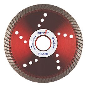 Marcrist BF650 Precision Universal Turbo Diamond Blade 125 x 22.23mm