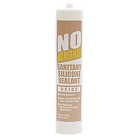 No Nonsense 11764402 Sanitary Silicone Beige 310ml