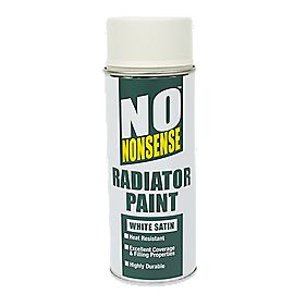 No Nonsense Radiator Paint White Satin 400ml
