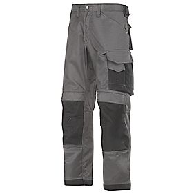 "Snickers 3312 DuraTwill Non Holster Trousers Grey / Black 33"" W 32"" L"