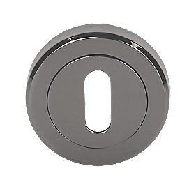 Serozzetta Standard Key Escutcheon Black Nickel 50mm