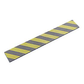 Mottez Protective Foam Strip Grey/Yellow Pack of 2