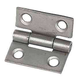 Steel Fixed Pin Hinge Self Colour 25mm Pack of 2