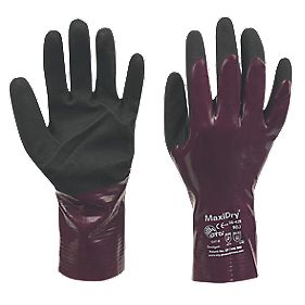 ATG MaxiDry Gloves Purple Large
