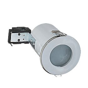 Robus Fixed Round Mains Voltage Fire Rated Downlight White IP65 240V