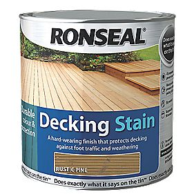 B and Q Decking Stain Rustic Pine 2.5Ltr