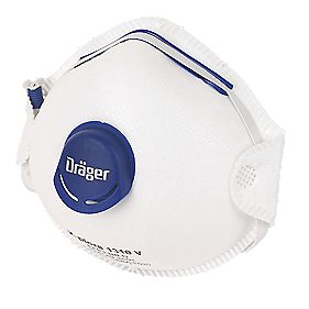 Dräger Cup-Valved Dust Masks P1 Pack of 10