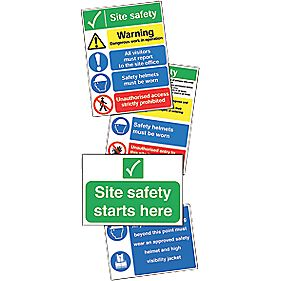 """Site Safety"" Signs Start Up Pack"