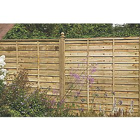 Forest Larchlap Solway Fence Panels 1828 x 1828mm Pack of 10