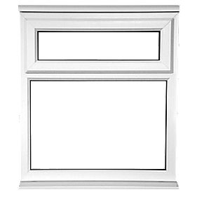Unbranded TF Double Glazed uPVC Window Opaque 620 x 1050mm