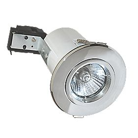 Robus Fixed Round Low Voltage Fire Rated Downlight Polished Chrome 12V