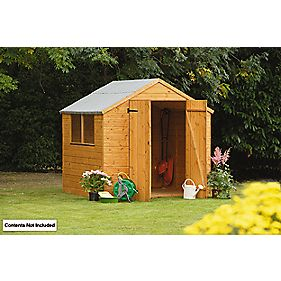 Larchlap Shiplap Apex Shed 7' x 7' x 7' (Nominal)