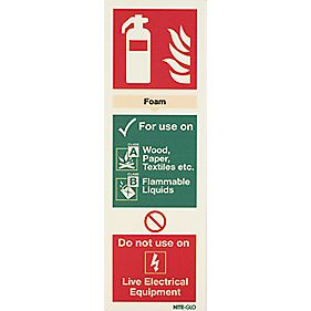 Nite Glo Foam Extinguisher Sign 300 x 100mm