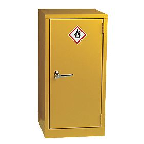 Hazardous Substance Cabinet Yellow x 457 x 457mm