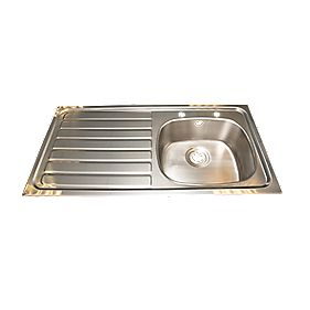 Franke Inset Kitchen Sink Stainless Steel 1 Bowl & LH Drainer 1015 x 505mm
