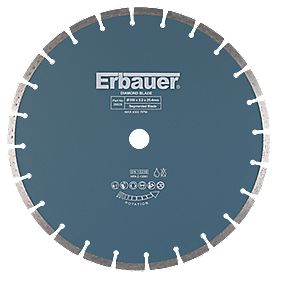 Erbauer Universal Segmented Diamond Blade 350 x 25.4mm