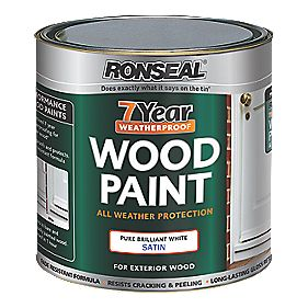Ronseal 7Yr Wood Paint Pure BrillWhite 750mlGloss