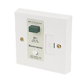 SafetySure 13A RCD Fused Spur White