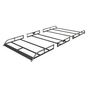 Rhino R582 Modular Roof Rack Twin Doors LWB/Toyota Hi-Ace