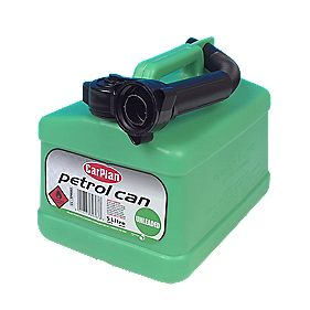 CarPlan Plastic Petrol Can Green 5Ltr
