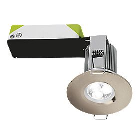 Halolite Fire Rated Fixed Integrated LED Downlight IP65 Satin Nickel 9W